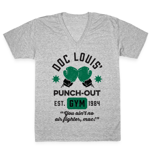 Doc Louis' Punch Out Gym V-Neck Tee Shirt