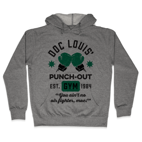 Doc Louis' Punch Out Gym Hooded Sweatshirt