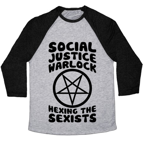 Social Justice Warlock Baseball Tee