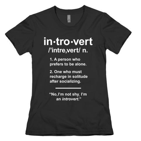 Introvert Definition Womens T-Shirt
