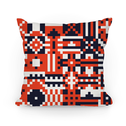 Square Pattern Pillow