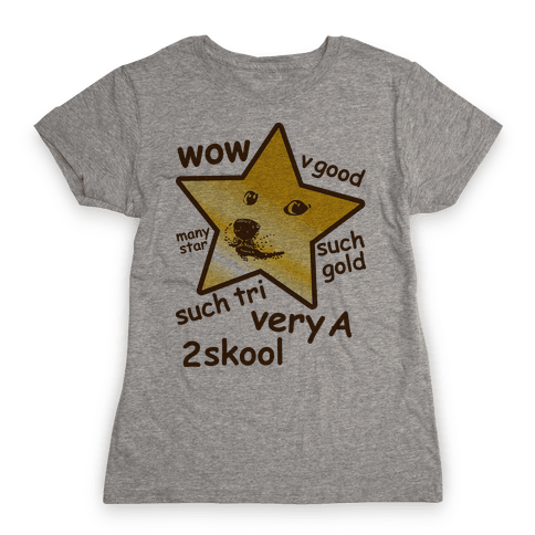 Gold Star Doge Womens T-Shirt