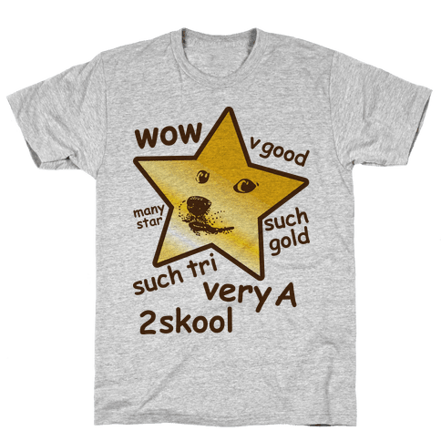 Gold Star Doge Mens T-Shirt