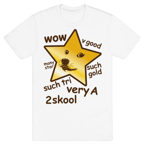 Gold Star Doge Mens T-Shirt