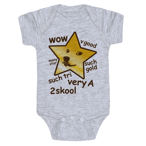 Gold Star Doge Baby Onesy