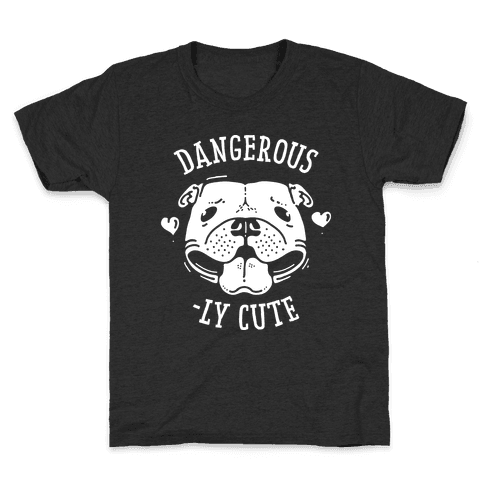 Dangerously Cute Pit Bull Kids T-Shirt