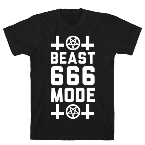 Sign of the Beast Mode Mens T-Shirt