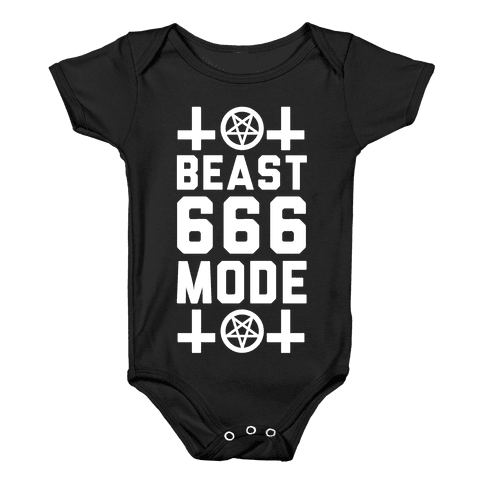 Sign of the Beast Mode Baby Onesy