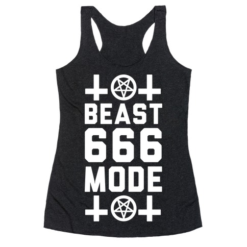 Sign of the Beast Mode Racerback Tank Top