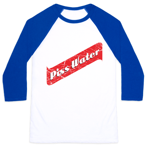 Pisswater (Red Stripe) Bad Beer Party Baseball Tee