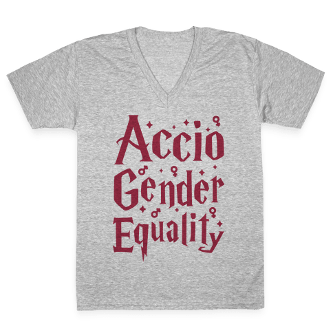 Accio Gender Equality V-Neck Tee Shirt