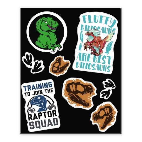 Dinosaur Sticker and Decal Sheet