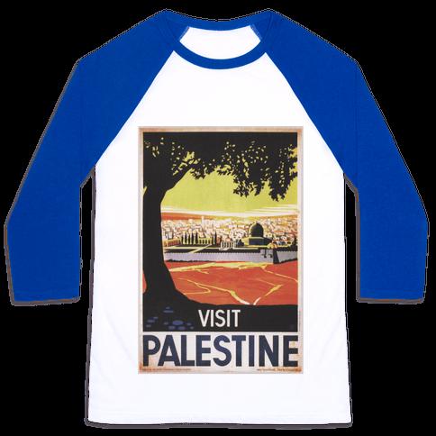 Visit Palestine Baseball Tee