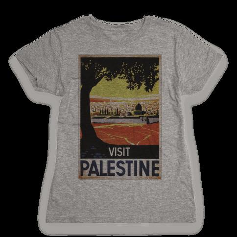 Visit Palestine Womens T-Shirt
