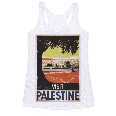 Visit Palestine Racerback Tank Top