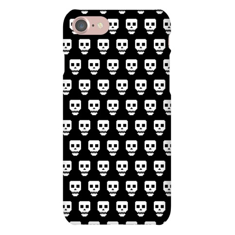 Spoopy Pixel Skull Phone Case