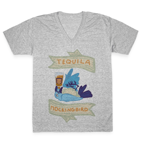 Tequila Mockingbird V-Neck Tee Shirt