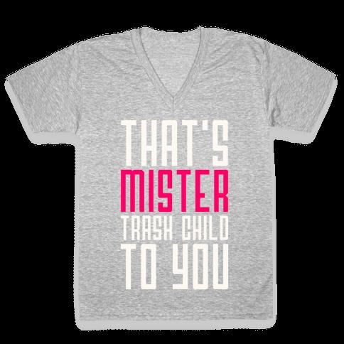 Mister Trash Child V-Neck Tee Shirt