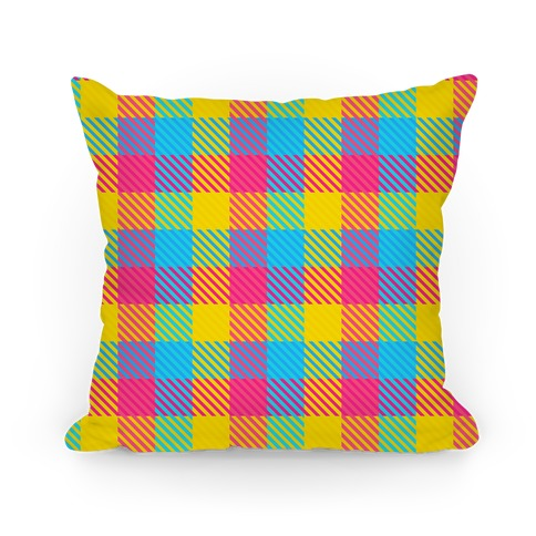 Pan Pride Flag Plaid Pillow