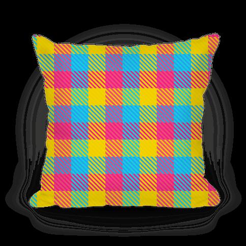 Pan Pride Flag Plaid Pillow