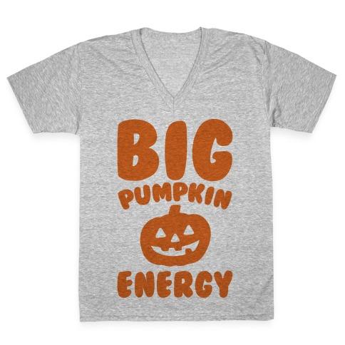 Big Pumpkin Energy Parody V-Neck Tee Shirt