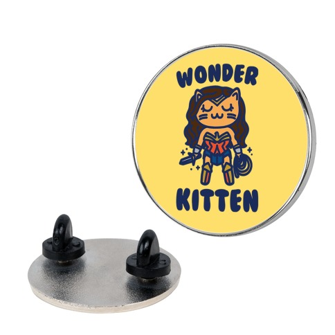 Wonder Kitten Parody pin