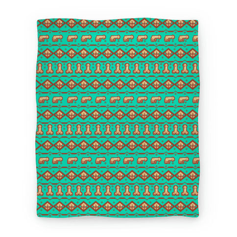 Ugly Christmas Sweater Pattern.Dicks And Butts Ugly Sweater Pattern Blanket Lookhuman