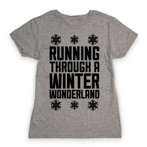 Running Through A Winter Wonderland Womens T-Shirt