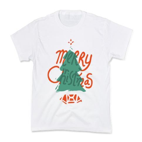 Merry Christmas Tree Kids T-Shirt