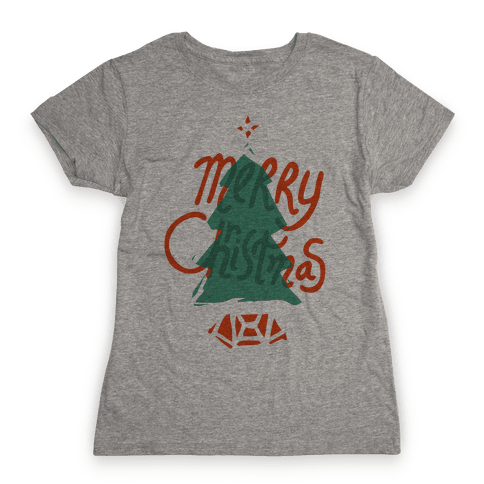 Merry Christmas Tree Womens T-Shirt