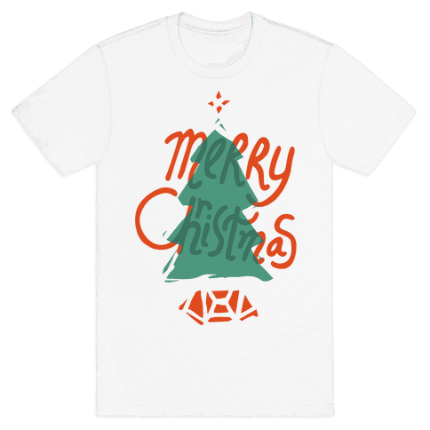 Merry Christmas Tree Mens T-Shirt