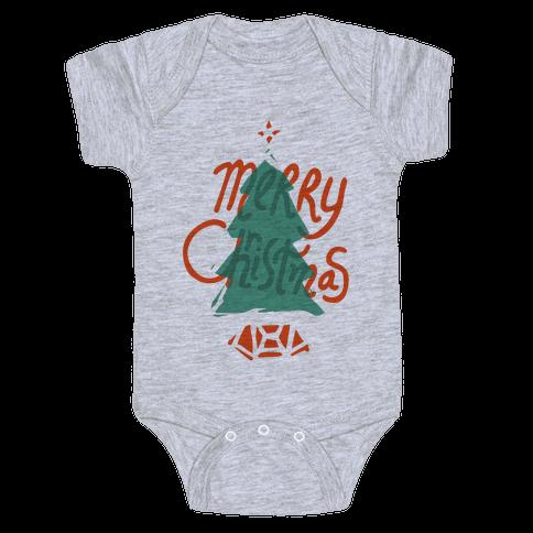 Merry Christmas Tree Baby Onesy