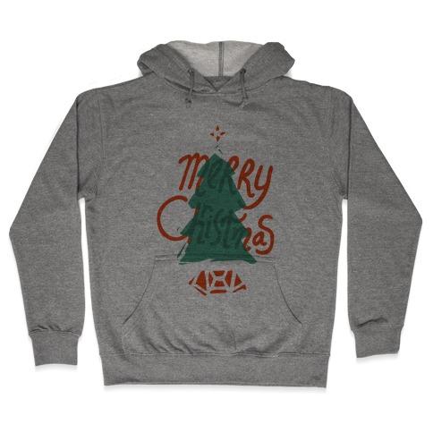 Merry Christmas Tree Hooded Sweatshirt