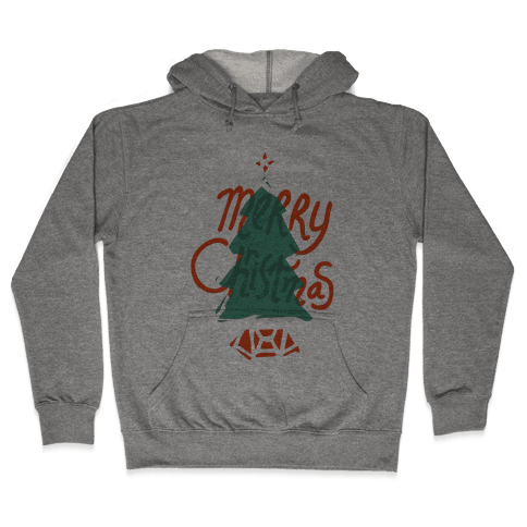 Merry Christmas Tree Hooded Sweatshirt
