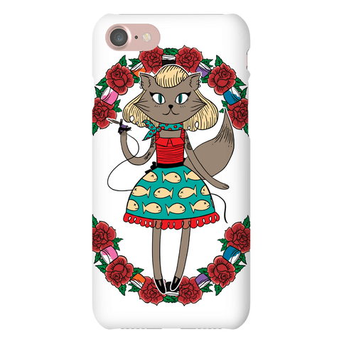 Tattooed Kitty Phone Case