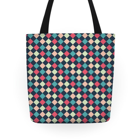 Checkerboard Pattern Tote