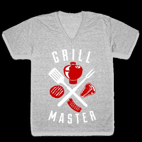 Grill Master V-Neck Tee Shirt