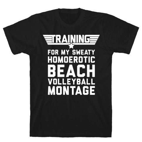Training for My Sweaty Homoerotic Beach Volleyball Montage