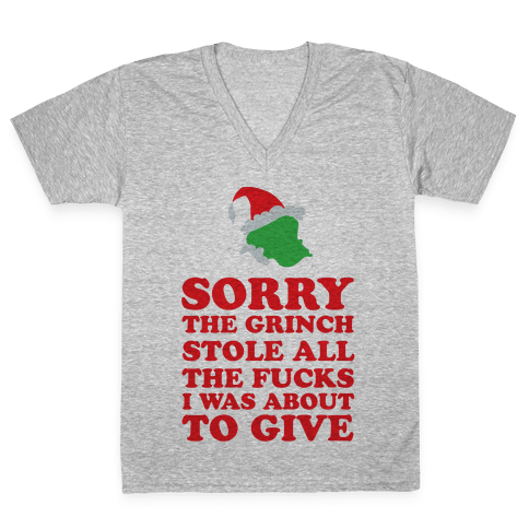 The Grinch Stole V-Neck Tee Shirt