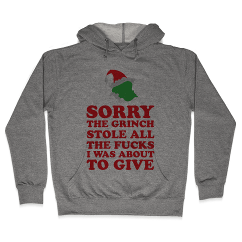 The Grinch Stole Hooded Sweatshirt