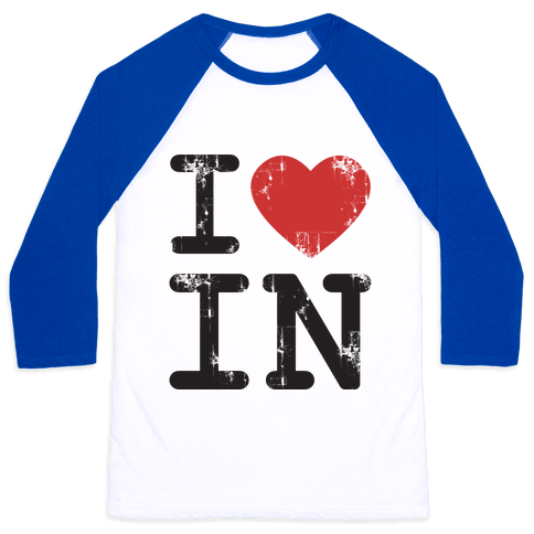I Love Indiana Baseball Tee