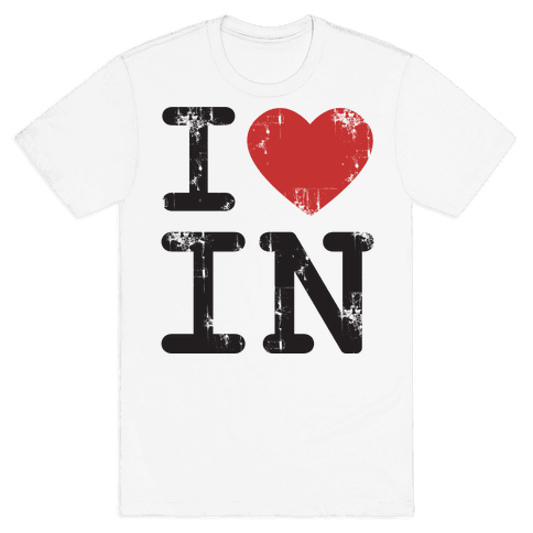 I Love Indiana Mens T-Shirt
