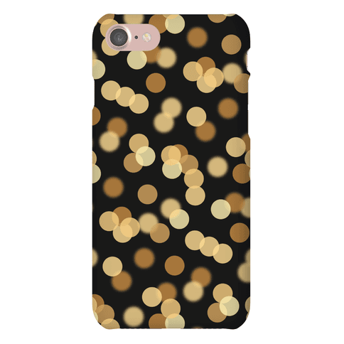 Gold Glitter Bokeh Pattern Phone Case