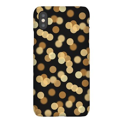 Gold Glitter Bokeh Pattern Phone Case