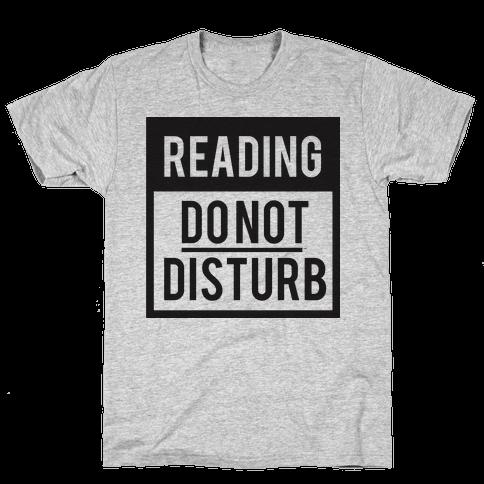 Do Not Disturb (Reading) Mens T-Shirt