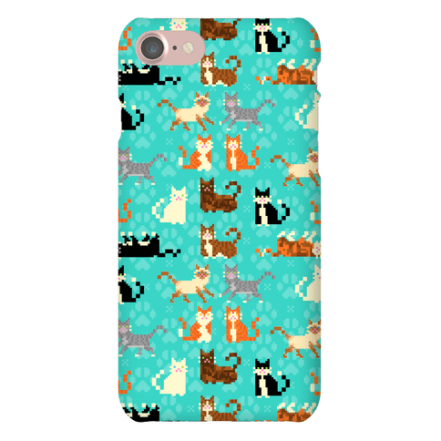 Cute Pixel Kitty Cats Phone Case