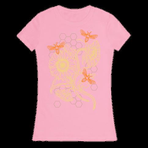 Honeybees & Sunflowers Womens T-Shirt