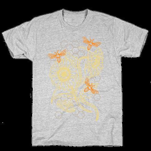 Honeybees & Sunflowers Mens T-Shirt