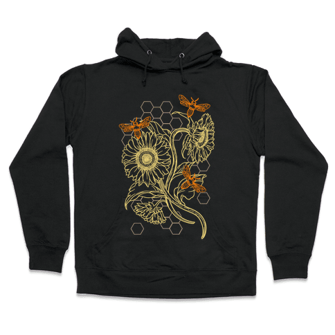 Honeybees & Sunflowers Hooded Sweatshirt