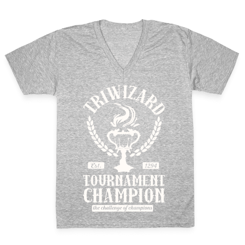 Triwizard Tournament Champion V-Neck Tee Shirt